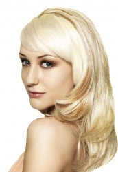 Sleek Sythetic Half Wig  Tulip
